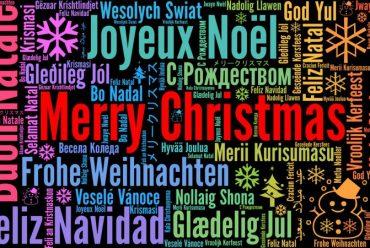 Feliz Natal em várias línguas